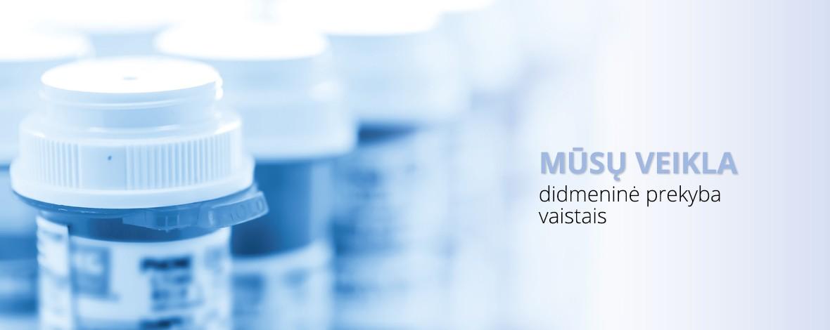 Mūsų veikla didmeninė prekyba vaistais
