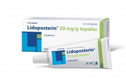 Lidoposterin 50 mg/g tepalas